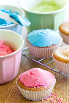 I use this recipe all the time, it's easy and tastes great! I use it for cupcakes but also for decorating cakes.