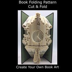 Cut & Fold Book Folding PATTERN Cuckoo Clock   by TheGiftLibrary