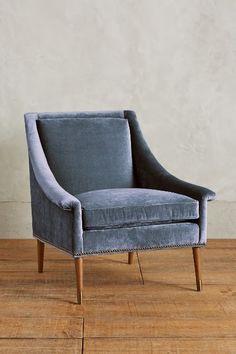 slub velvet tillie armchair