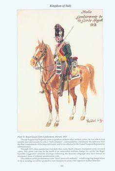 Kingdom of Italy: Plate 51: Royal Guard, Elite Gendarmerie, Private, 1813