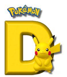 Abecedario de Pikachu de Pokémon. Pikachu Alphabet. Easy Pokemon, 150 Pokemon, Pokemon Craft, Pokemon Birthday Cake, Pokemon Party, Brother Birthday, Boy Birthday, Pokemon Letters, Pikachu Drawing