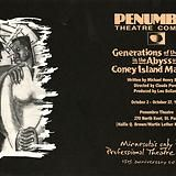 """""""Generations of the Dead in the Abyss of Coney Island Madness"""" is a play by Michael Henry Brown about a guy who travels to the depths of the slums to rescue his girlfriend. Performed by Penumbra Theatre Company in 1991. To see more pages, click the link."""