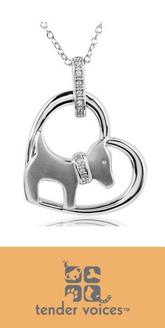 New! Tender Voices Silver Heart and Dog Diamond Pendant. Perfect for a gift. More at http://www.amazon.com/Tender-Voices-Silver-Diamond-Pendant/dp/B00DPE5IPA/ref=sr_1_8?m=A2ARSURNC9G1R1&s=merchant-items&ie=UTF8&qid=1413399133&sr=1-8 #heartpendant #ASPCA #heartjewelry #giftjewelry