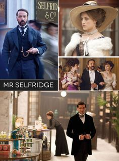"""Masterpiece Theater's """"Mr. Selfridge"""" (2013) This series is like a dream. The beauty of the costumes is endless and the music is so entrancing during the opening credits. I feel like I'm watching Annie arrive at Mr. Warbuck's Mansion for the first time. That's how elegant the store appears."""