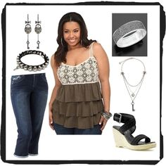 """Another """"me"""" outfit, created by frances-olea.polyvore.com (I'm ridiculously addicted to this site!)"""