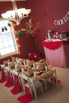 mommy erica: Gingerbread House Party Cute décor and a good list of where she bought everything
