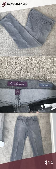 EUC- Gloria Vanderbilt 'Amanda' Jeans- Size 6 These jeans are in excellent condition. Bottom of pants have no fraying of edges or tears. Buttons and zipper are secure. Measurements shown. Please let me know if you have any questions!   Offers accepted Bundle and save Gloria Vanderbilt Jeans