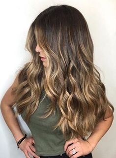 Trendy Hair Highlights : Gorgeous long brunette hair with rich blonde balayage hair color scorpioscowl. Grey Balayage, Hair Color Balayage, Hair Highlights, Bayalage Color, Color Highlights, Sun Kissed Highlights, Balayage Brunette Long, Hair Colour, Caramel Highlights