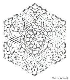 Patterns and motifs: Crocheted motif no.Crochet pattern for scarves, blouses, blankets . Crochet Hood, Crochet Mat, Crochet Shirt, Crochet Mandala, Crochet Squares, Crochet Granny, Filet Crochet, Crochet Doilies, Crochet Motif Patterns