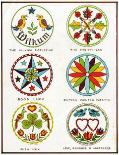 PA Dutch hex signsFrom Hexology: The History And The Meaning Behind Hex Signs