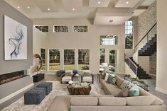 Plan W31836DN: Modern Masterpiece / Great Room