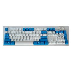 a83d8df529c Double Shot Keycap 104 Set for Chery MX Keyboard Key Caps Blue-White