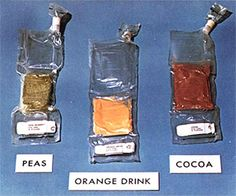 Early space food packets
