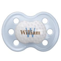 Cute Golf Ball Monogram Pacifier