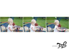 bebel brincando no parque