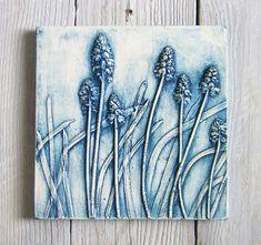 Niebieski Szafirek płytki odlew gipsowy
