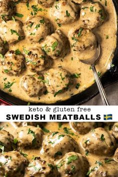 This Gluten Free & Keto Swedish Meatballs is highly delectation. ~ Please click pin to learn more ~ Keto Dinner Recipes Healthy Diet Recipes, Cooking Recipes, Keto Snacks, Ketogenic Recipes, Healthy Food Blogs, Ultra Low Carb Recipes, Sugar Free Recipes Dinner, Low Carb Hamburger Recipes, Easy Delicious Dinner Recipes