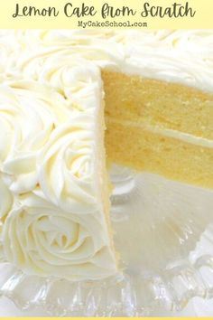 904 reviews · Vegetarian · This Lemon Cake from Scratch is the BEST! So moist, fluffy, and flavorful! We love it with lemon curd and lemon cream cheese frosting. #Lemoncake #lemon #lemonlayercake #layercake Cream Cheese Buttercream Frosting, Buttercream Recipe, Frosting Recipes, Icing, Lemon Desserts, Lemon Recipes, Delicious Desserts, Lemon Cake From Scratch, Cake Recipes From Scratch