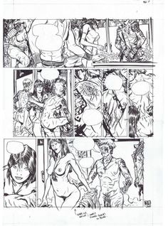 Flourescent Black (HeavyMetal) #2 page 10(Nudity) - Nathan Fox Comic Art