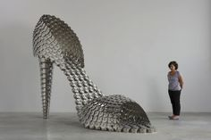 Giant Shoes Made of Pots, Pans, and Lids - My Modern Metropolis