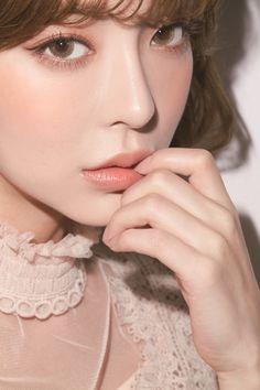 Pretty Girl with beautiful Eyes & Faces Korean Makeup Look, Asian Makeup, Korean Beauty, Asian Beauty, Beauty Bay, Gloss Matte, Bride Makeup, Aesthetic Makeup, Ulzzang Girl