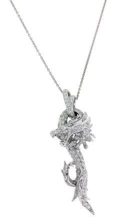 www.jewelrybydavid.com Carrera y Carrera CÍRCULOS DE FUEGO pave dragon necklace in 18k. Link to the item https://www.jewelrybydavid.com/collections/carrera-y-carrera/products/carrera-y-carrera-circulos-de-fuego-pave-dragon-necklace-in-18k