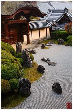 Rock garden, Komyo-ji temple by Damien Douxchamps