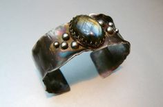 Labradorite and Sterling Silver Cuff by pmdesigns09 on Etsy