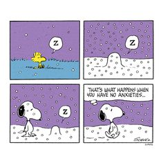 Snoopy & Woodstock: what happens when you have no anxieties!