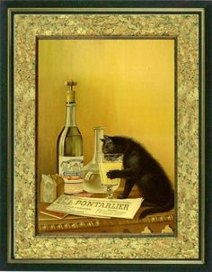 THIRSTY CAT   Poster art print   Vintage art by littlevintagechest, $7.99
