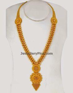 gold poosala mini haram - Latest Jewellery Designs