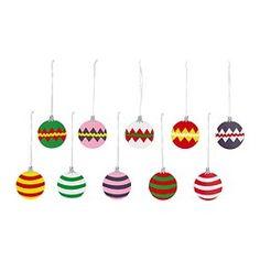 SNÖMYS decoratie, hangend, diverse dessins Diameter: 8 cm Aantal per verpakking: 5 st.