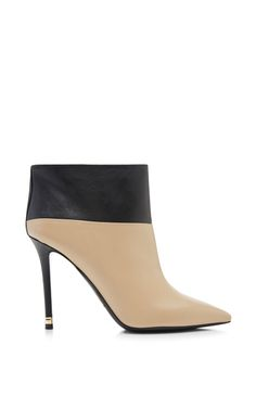 Shop Two-Tone Leather Ankle Boots by Nicholas Kirkwood Now Available on Moda Operandi