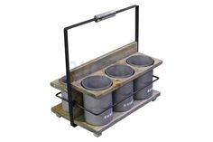 Industrial Condiments Holder - Double by Rustix