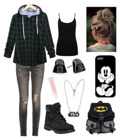 """""""normal day"""" by catie-boston ❤ liked on Polyvore featuring R13, Timberland, M&Co, Lancôme, women's clothing, women's fashion, women, female, woman and misses"""