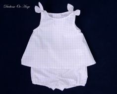 Light pink gingham baby top and bloomers set - 12 months old Vichy Rose, Pink Gingham, 12 Months, Rose Pale, Rompers, Legs, Or, Dresses, Women