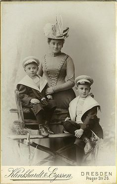 Antique Photo Album: Mother and sons by Antique Photo Album, via Flickr