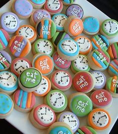 Great looking and delicious cookies for an Alice themed party