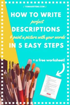 Writing the perfect description can be tough, but not when you have these 5 easy steps! Click here to learn 5 easy tricks that will make sure your novel is full of the perfect details and descriptions!
