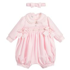 Smocked Baby Clothes, Baby Girl Fashion, Embroidered Flowers, Beautiful Hands, Playsuit, Grosgrain, Pink Girl, Smocking, Lace Trim