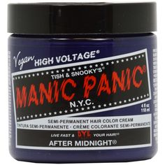 Manic Panic Classic Crème Hair Color (15 CAD) ❤ liked on Polyvore featuring beauty products, haircare, hair color and blue