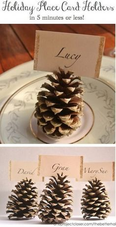 Pinecone Place Card Holders Tutorial
