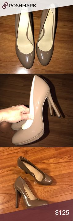 """Brian Atwood patent leather nude heels 7 EUC Gorgeous heels by Brian Atwood in nude patent leather . These look new! Heels are 4.5"""". Authentic. No scuffs . On the bottom of the sole, some pen mark.  These shoes are CLASSIC & in excellent condition. B Brian Atwood Shoes Heels"""