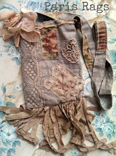 Tattered Lace patchwork Flea Market bag. 75.00