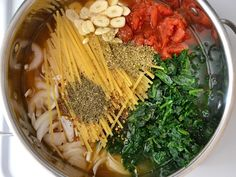 Italian Wonderpot. All the ingredients go into the pot together and is done in about 20 minutes! Simple and delicious.