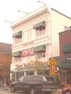 Tina's Italian Kitchen - in the village of Hamburg - great pasta - so many memories of going there with my sister