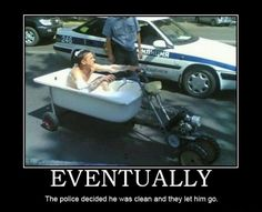 The police decided he was clean and they let him go
