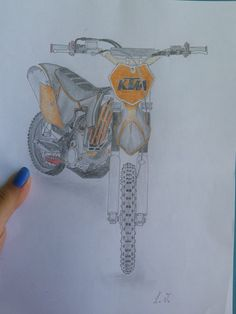 #ktm #bike #offroad #enduro #orange #black #draw #pencil #fast #motocross