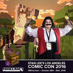 katdensetsu:  My #minechest photo from @lootcrate s booth @stanleecomiccon !! #Gabriel and their mighty #minecraft block steed!  -----------  #lootcrate #spncosplay #spngabriel #archangelgabriel #richardspeightjr #cosplay #cosplayer #mycosplay #gaming #gamer #supernatural #supernaturalcosplay #mustache #lacomiccon #comikaze #comiccon #lacomiccon2016 #stanleecomiccon #losangeles #LA #gabrielnovak #supernaturalfandom #spnfandom #spnfamily #rsj (at Stan Lees Los Angeles Comic Con)  minecraft la…