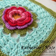 Block 28: Katharine's Rose {Photo Tutorial} - Look At What I Made